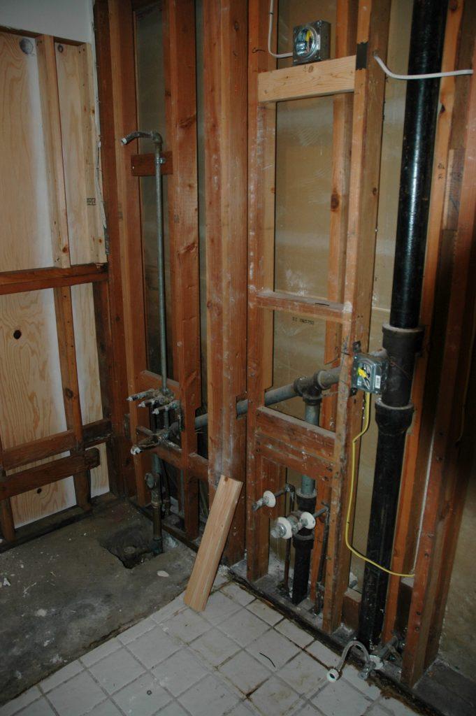 Ventilated drain (the black vertical pipe)